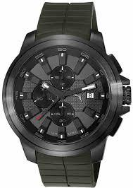 men s puma drill green silicone chronograph watch pu103891002