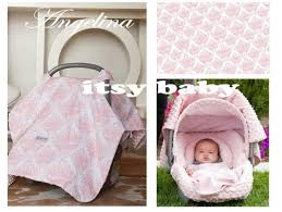 the whole caboodle cat canopy baby car seat cover 5 pc set angelina