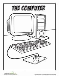 Its very important to help your kids in coloring at the begining. Computer Worksheet Education Com