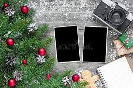 Blank Boxes To Decorate Retro Camera And Christmas Blank Photo Frames With Fir Tree 62