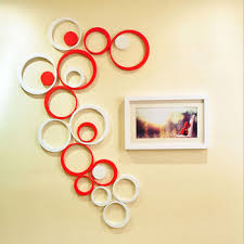get ations new arrival creative wall stickers living room 3d wall stickers circular shape wall paper for home