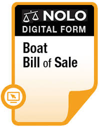 Boat Bill Of Sale - Legal Form - Nolo