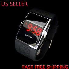 led digital watch luxury men s fashion led digital date sports quartz waterproof wrist watch black