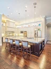 it doesn t get much finer than this u shape kitchen design with chandeliers