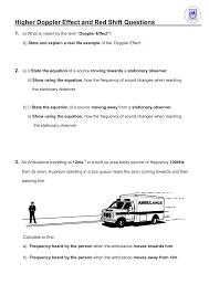 Doppler Effect Equation Light Higher Doppler Effect And Red Shift Questions