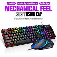 <b>TF200</b> USB <b>Wired</b> Gaming Keyboard Standard 104 Keys Ergonomic ...