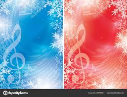 Christmas Backgrounds For Flyers Blue Red Vector Flyers Music Notes Snowflakes Christmas