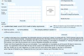 Cscs Card Application Form Assistance - Craft And Operative