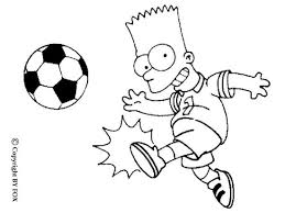 Small Picture Bart playing football coloring pages Hellokidscom