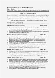 Appraiser Sample Resumes Unique 48 Real Estate Resume Free Template Best Resume Templates