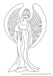 Small Picture Free Angel Coloring Pages letscoloringpagescom Cute Angel 3