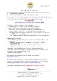 Xavier University Call For Nominations Employee