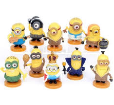 minion mini figures minions figurine cake topper 10 pcs set