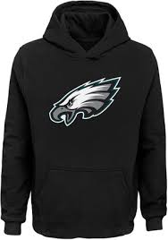 Philadelphia Boys Eagles Logo Black Primary Hoodie