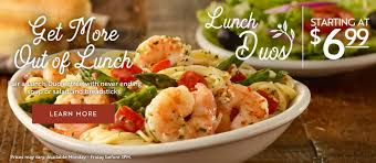 grab a tasty italian treat from olive garden starting at 6 99 monday friday before 3pm