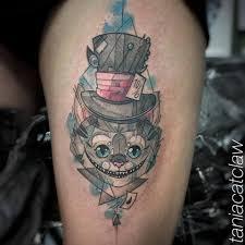 тату эскизы чеширский кот