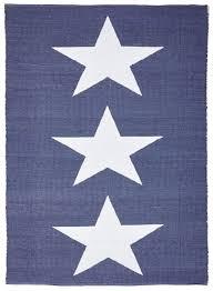 coastal indoor outdoor star rug navy