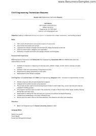 Good Engineering Resume Sample Best Of Civil Engineer Technologist Resume Templates Httpwww