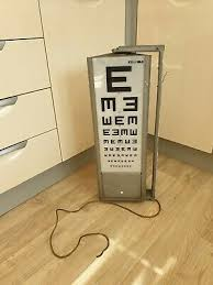 Vintage Eye Chart Light Box Childrens Eye Test Chart Light Box Medical Opticians Games