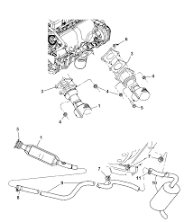 5085660ab genuine mopar converter catalytic pt cruiser muffler replacement at Pt Cruiser Exhaust Diagram