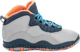 jordan shoes retro 10. air jordan retro 10 bobcats preschool lifestyle shoe (grey/orange/blue) shoes