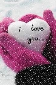 animated winter i love you e