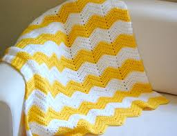 Double Crochet Chevron Blanket Pattern Unique Decoration