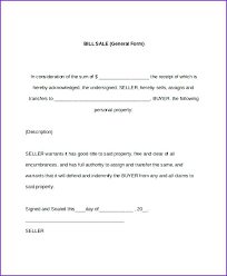 Free Sample Of Bill Of Sale Printable Sample Bill Of Sale Camper Form For Property Free Personal