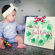 Your Childu0027s Actual Footprints Footprint Art By MyForeverPrints Christmas Crafts With Babies