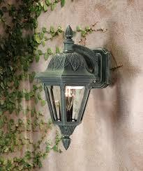 fl outdoor top mount wall light verde green