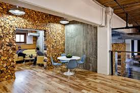 interior designers office. The Design Features A Number Of Pieces Made From Salvaged And Reclaimed Materials, Including Pizza Ovens, Street Signs, Wood Old Crates, Interior Designers Office S