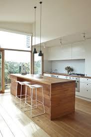 kitchen wood furniture. Sleek And Modern Kitchen With Clean Lines, Wood Island, Minimal Furniture