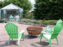 world away furniture. fire pit in main house garden and greenhouse for guests to enjoy world away furniture