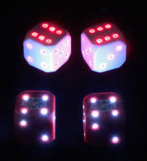 Dice With Lights Dicecollector Com Dice Theme Lighted Dice