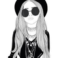 Épinglé par Phoebe ODonnell sur Black-White Art | Hipster girl drawing,  Dessins de fille, Art tumblr