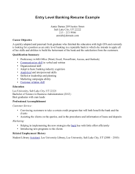 Banker Resume Objective Samples Resume Templates And Cover Letter