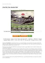 the hobbit essay tolkien essay tolkien essays we write custom  the hobbit book pdf english