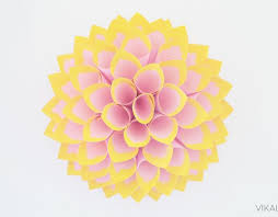 Dahlia Flower Making With Paper How To Make A Paper Dahlia With Pictures Wikihow