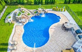 In ground pools Oval Inground Pools Emerald Outdoor Living Seasonal World