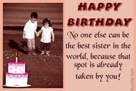 Cute And Affectionate Birthday Wishes For Your Lovely Sister