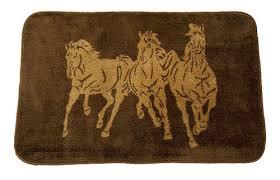 western running horses kitchen rug 30