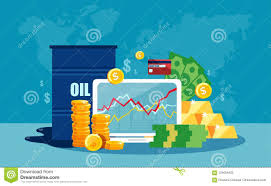 Vector Concept Of Barrel Of Oil Price Chart In Flat Style