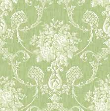 Winsome Green Floral Damask 2702-22747 ...
