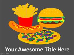 Free Food Powerpoint Templates Junk Food Powerpoint Template Download Free Powerpoint Ppt