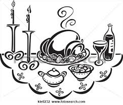 dinner table clipart black and white. fancy dinner clip art table clipart black and white r