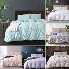 bedding set duvet cover quilt cover pillowcases solid colors
