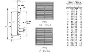 Return Grille Sizing Chart Untitled Document