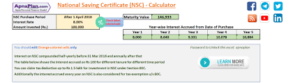 Nsc Calculator