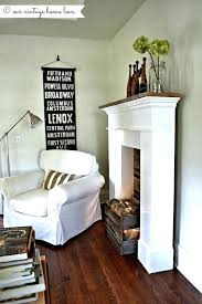 faux fireplace mantles faux fireplace surround ideas create a faux fire look use a crate or faux fireplace