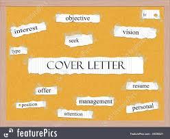 Illustration Of Cover Letter Words